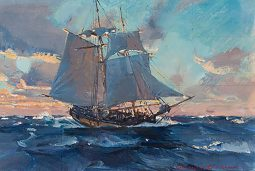 Sketch for Colonial Schooner, Halifax