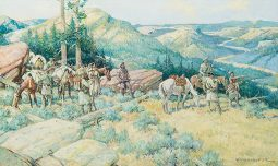 Lewis and Clark on the Yellowstone with Sacagawea