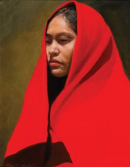 Girl from Gallup in Red Trade Blanket