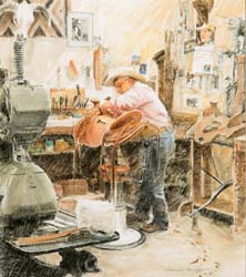 Chas Weldon, Saddle Maker