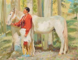 Taos Indian with His Horse