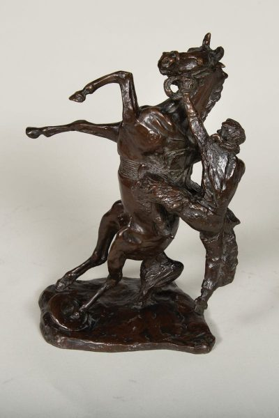 where the best of riders quit sculpture by charles russell
