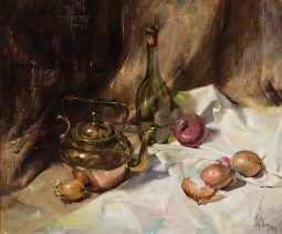 Still Life with Wine and Onions, 1971