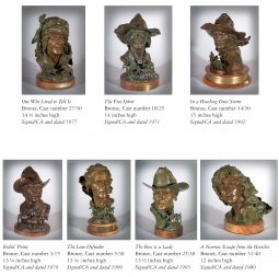 17 Bronze Busts