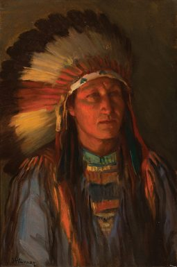Indian in a War Bonnet