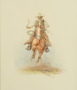Full Speed – Cowboy on Galloping Horse